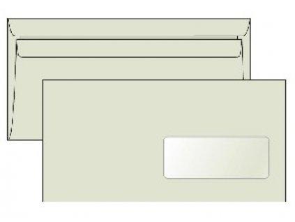 Poštové obálky DL samolepiace, okienko recyk. LETTURA 1000ks