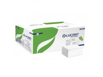 Papierové utierky Z V ohyb, 2 vrstvové, LUCART Eco, biele
