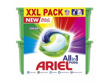 Ariel All in 1 Color gélové kapsuly 55 praní 1x1 ks