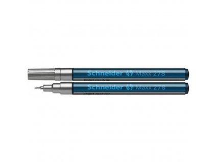 Lakový popisovač, 0,8 mm, SCHNEIDER Maxx 278, strieborný