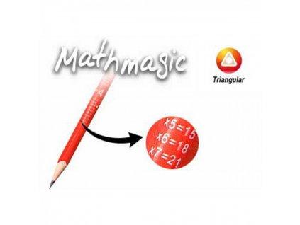Ceruzka Mathmagic s gumou, 2 = HB, trojhranná