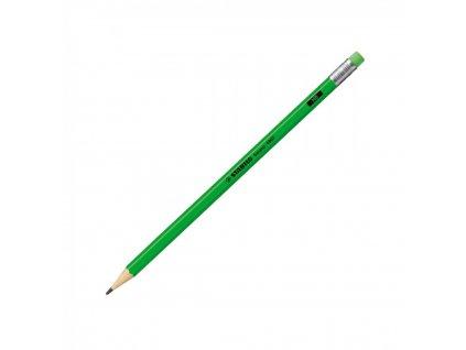 Ceruzka grafitová STABILO Swano neon zelená s gumou HB 4907GR