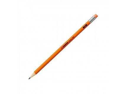 Ceruzka grafitová STABILO Swano neon oranžová s gumou HB