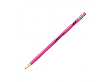 Ceruzka grafitová STABILO Swano neon ružová s gumou HB 4907HB
