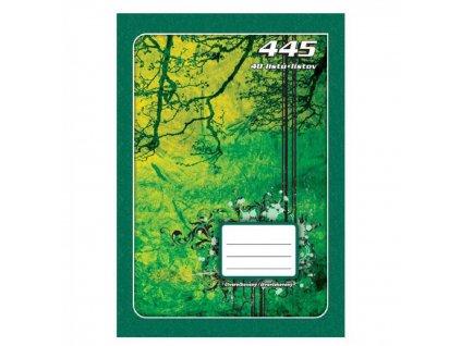 Zošit A4 445, štvorčekový, 40 listový