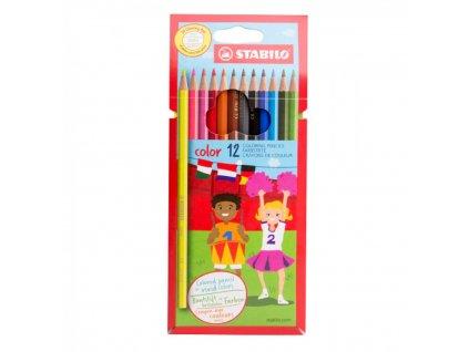 Farbička STABILO color farbičky 12 ks vrátane neon Karton Puzdro