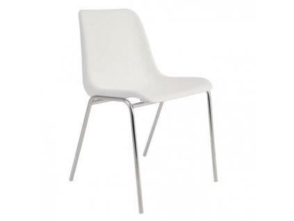 Jedálenská stolička Vincenza, biela