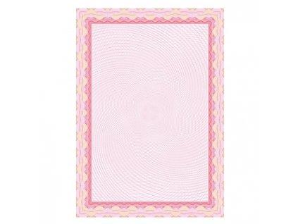 Certifikačný papier APLI A4 bledo ružový 115g 25 hárkov