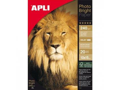 Fotopapier 10x15cm APLI Bright 240g 20 hárkov