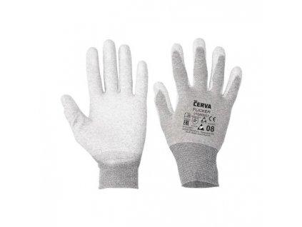 Rukavice nylonové, bezšvové, pletené FLICKER, veľ. 10/XL