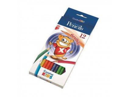 Farbičky CREATIVE KIDS 12 Flexible