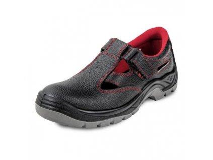 Sandále bezpečnostné BONN SC-01-001 S1 SRC, čierne, veľ. 35