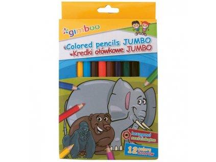 Farbičky Gimboo Jumbo šesťhranné 12 ks