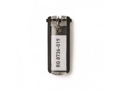 Menovky na kľúče DURABLE KEY CLIP čierne 6ks