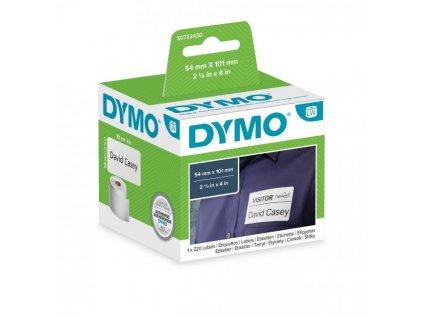 Samolepiace etikety Dymo LW 101x54mm menovky balíky biele