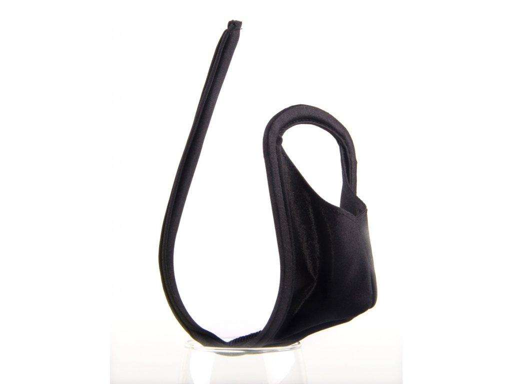 Pánské černé Cstring tanga PM68