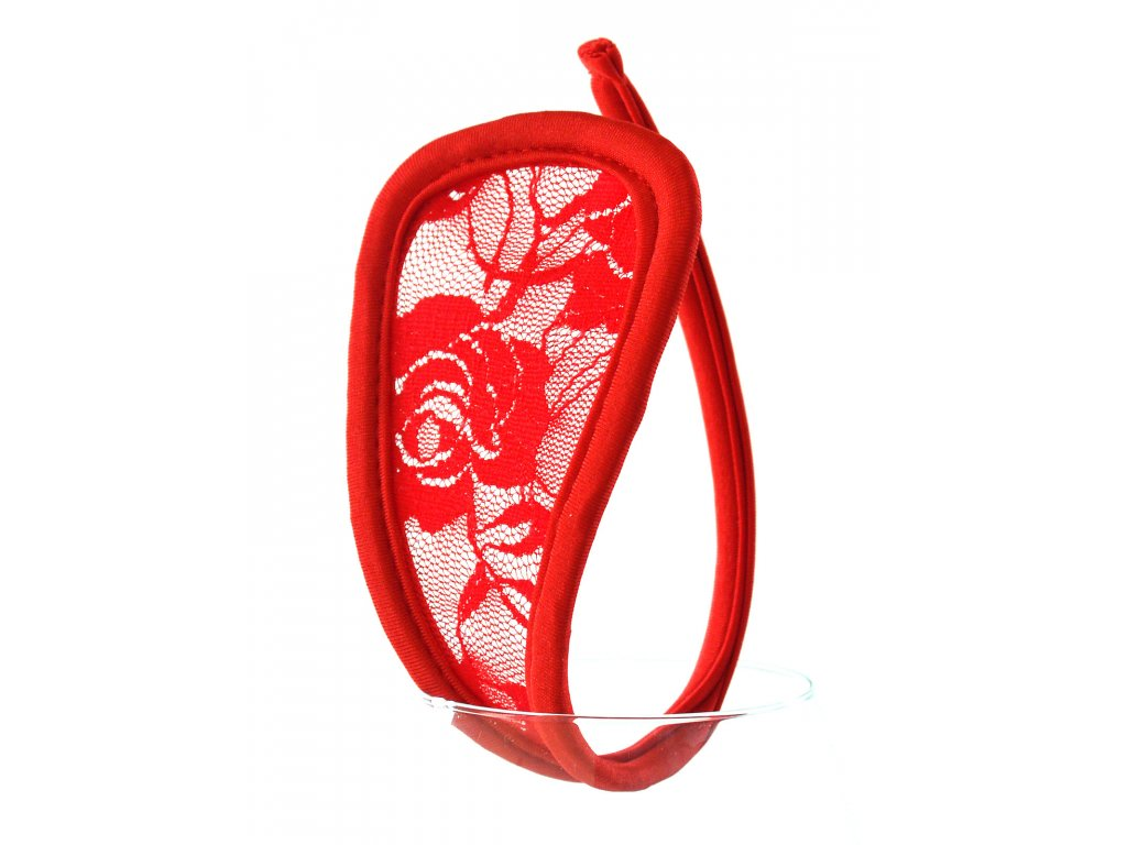 Červené dámské C-string tanga LS18