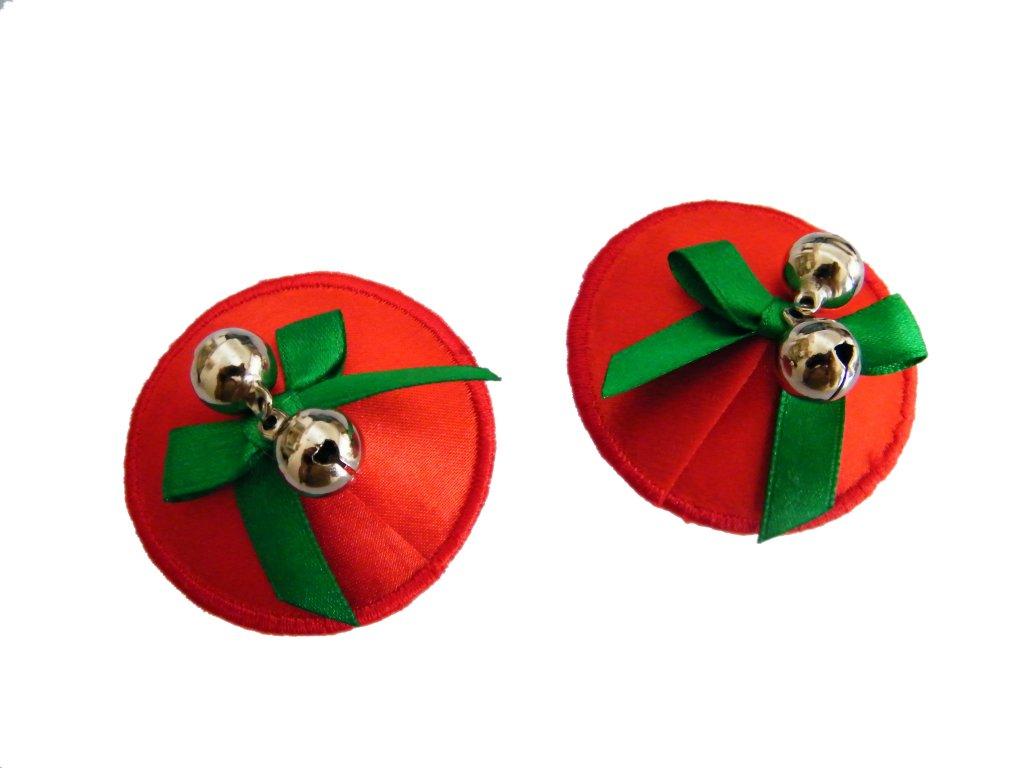Červená lepítka na bradavky Satin cover nc078