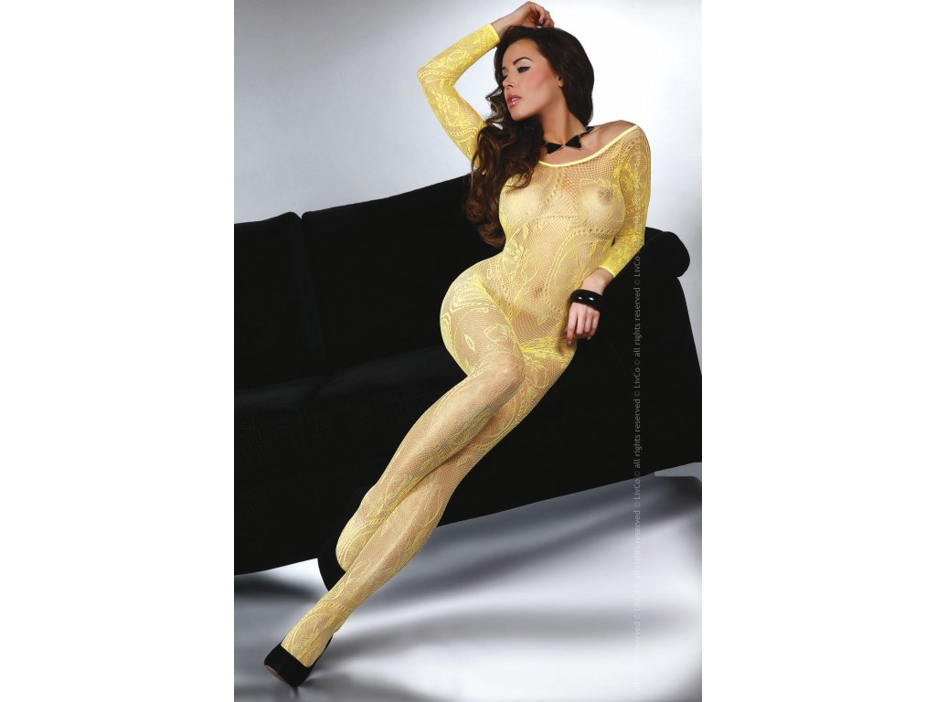 Bodystocking Abra Yellow Livco Corsetti