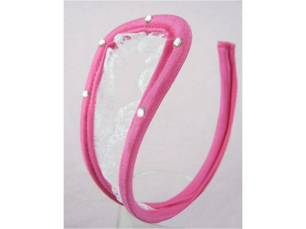 Dámské růžové C-string tanga ls27