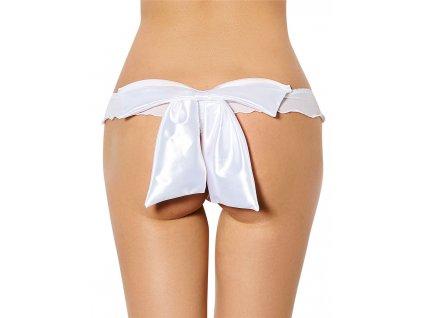Dámské kalhotky bílá mašle P5082-2