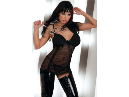 LivCo Corsetti Shikoba erotická košilka, černá