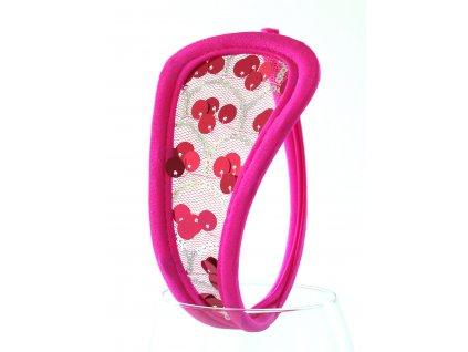 Růžové dámské C-string tanga SH50