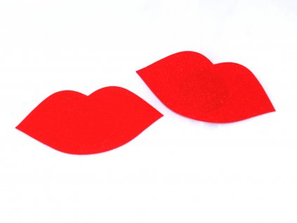 Červená lepítka na bradavky Satin cover nc009