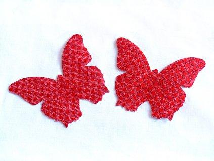 Červená lepítka na bradavky ve tvaru motýlka NC020
