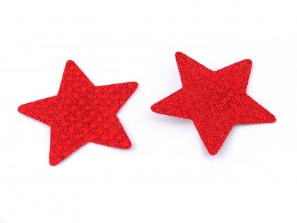 Červená lepítka na bradavky Satin cover nc004