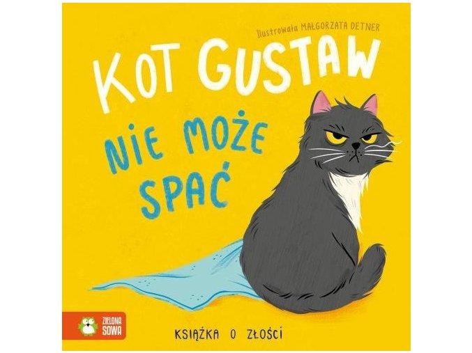 Kot Gustaw nie może spać.