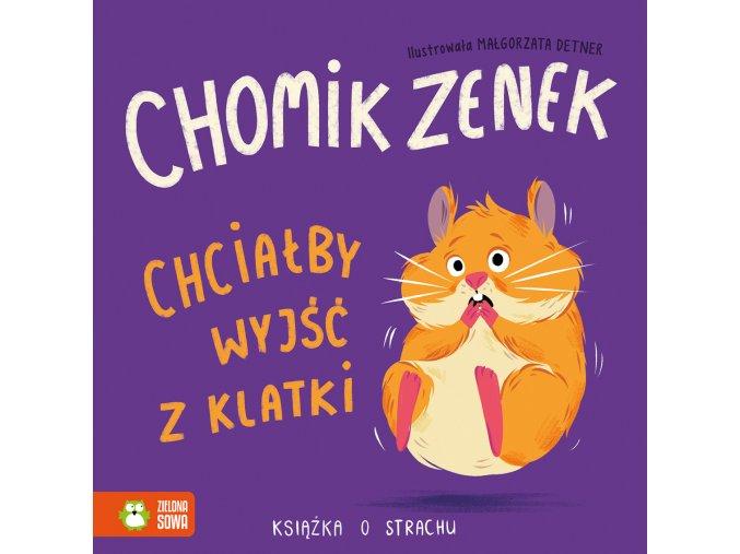 Chomik Zenek chciałby wyjść z klatki.