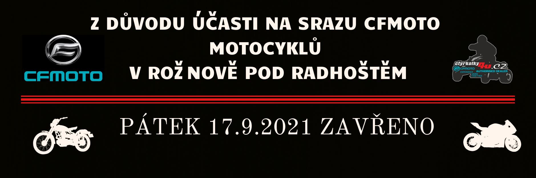 Sraz CFMOTO 17.9.2021