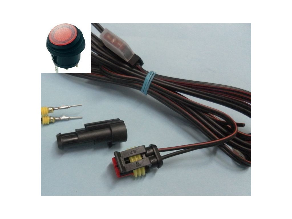 Připojovací kabeláž MOTO se spínačem R13.RED IP65