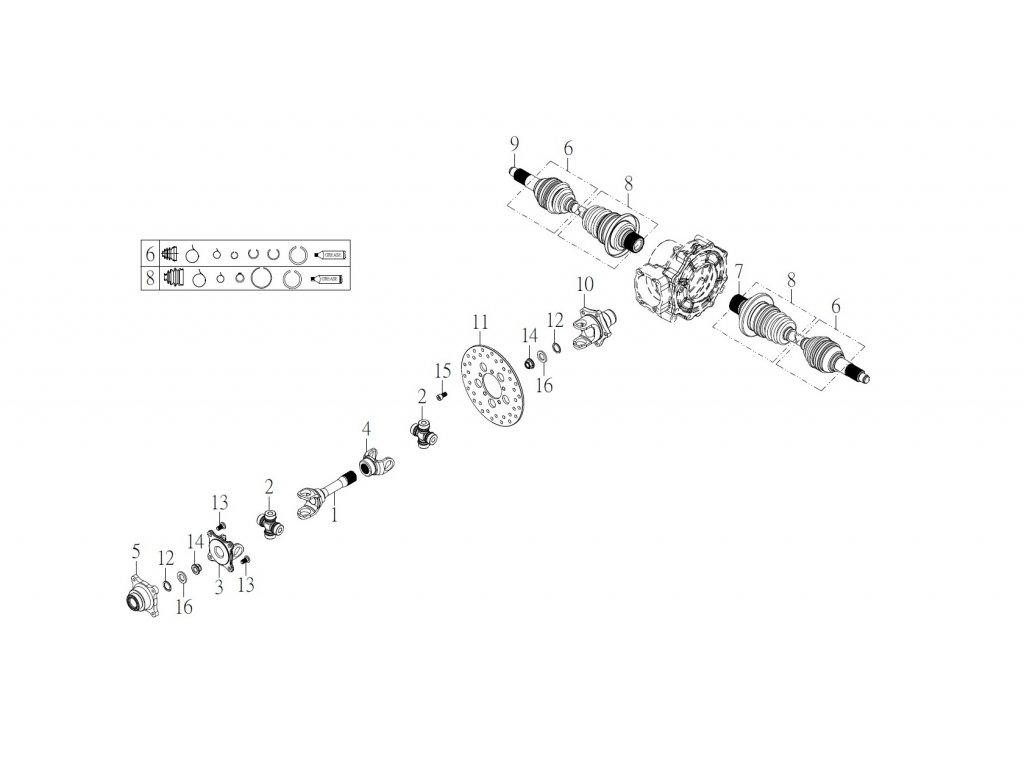 SMC 720R - rozkres - REAR TRANSMISSION