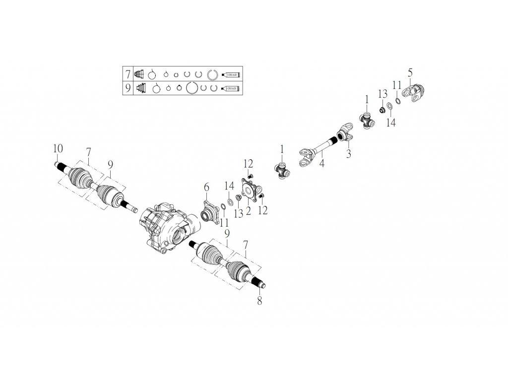 SMC 720R - rozkres - FRONT TRANSMISSION