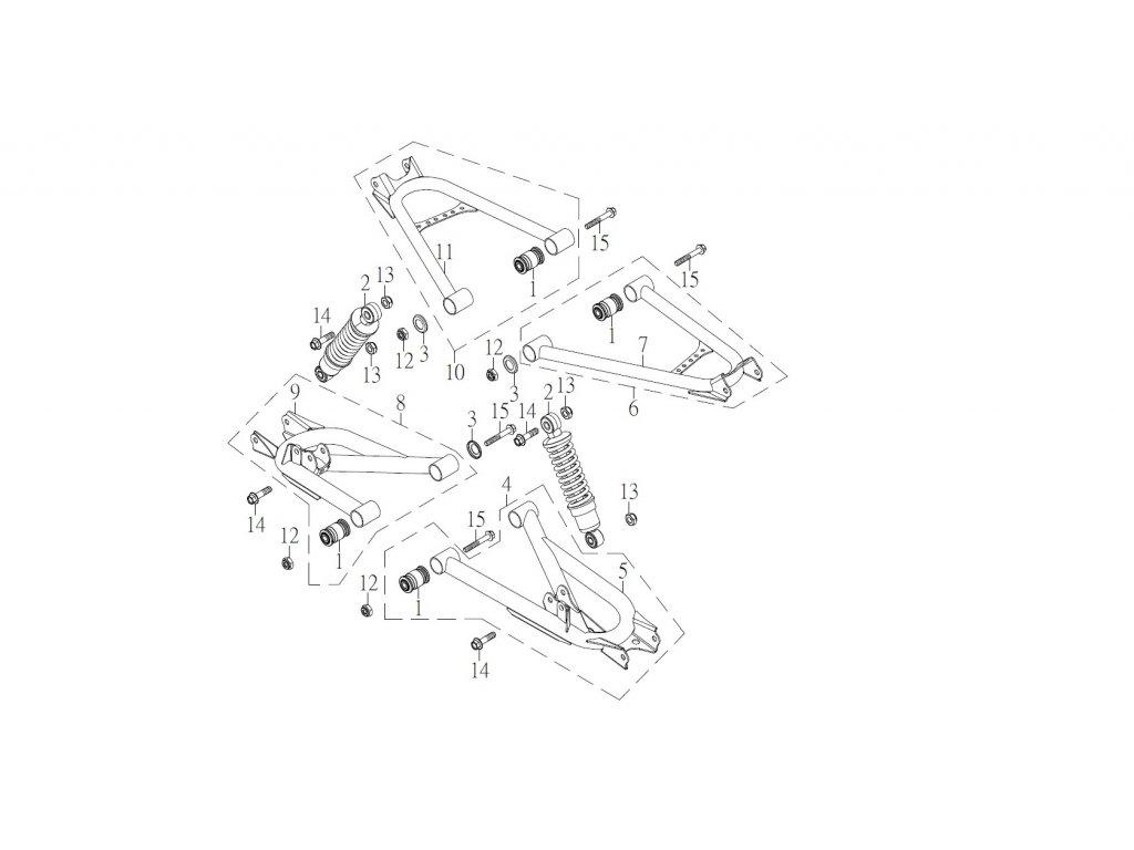 SMC 720R - rozkres - REAR SUSPENSION