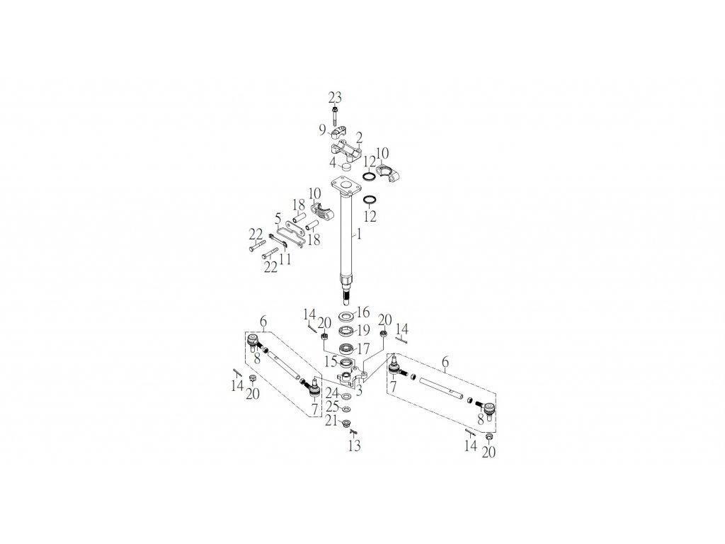 SMC 720R - rozkres - STEERING