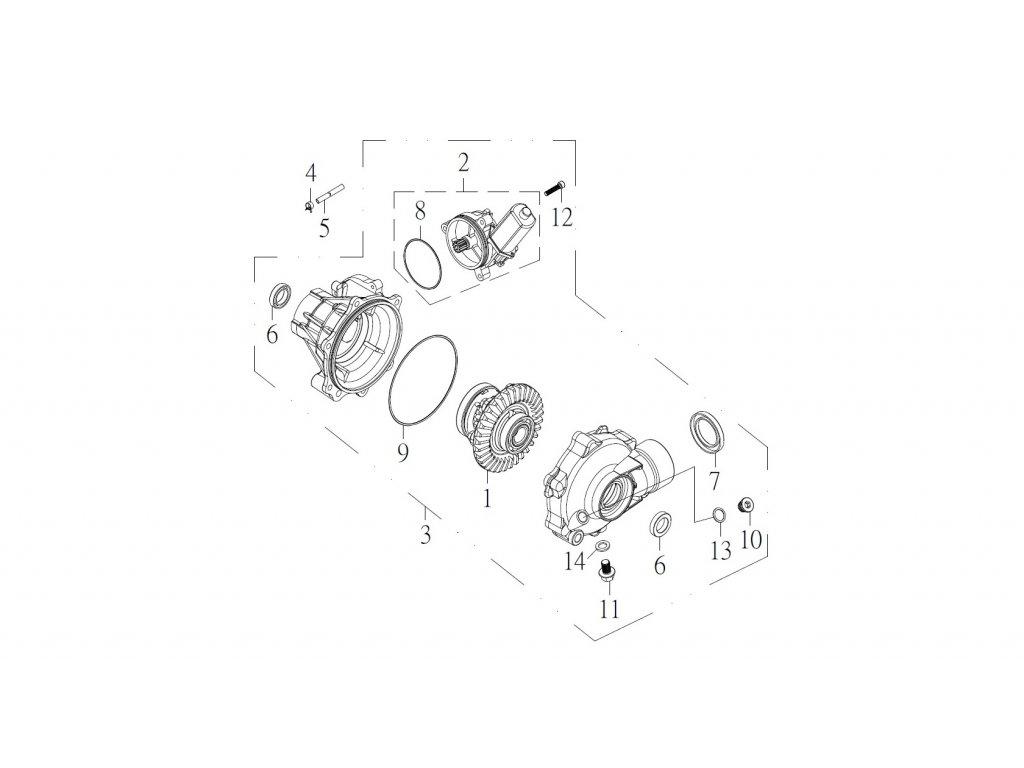 SMC 720R - rozkres - FRONT GEAR BOX