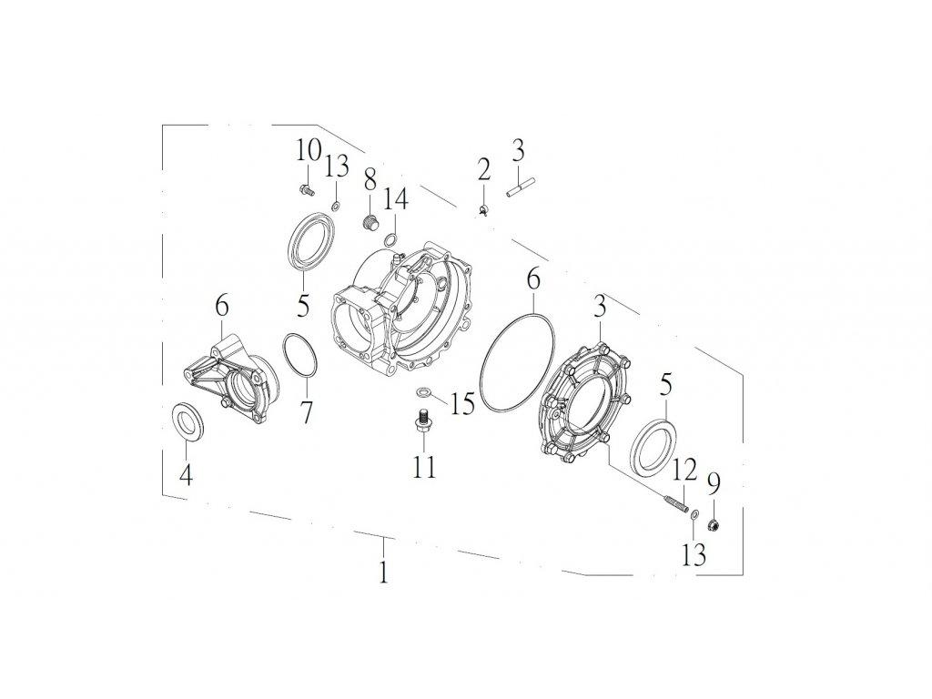 SMC 720R - rozkres - REAR GEAR BOX