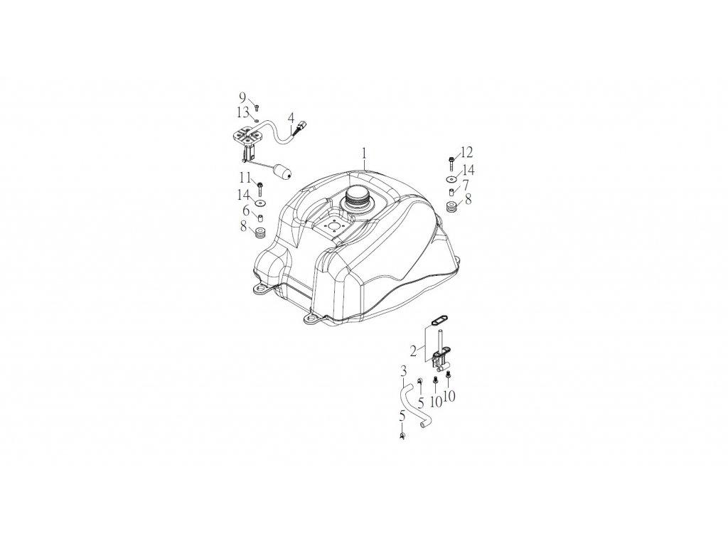 SMC 720R - rozkres - FUEL TANK