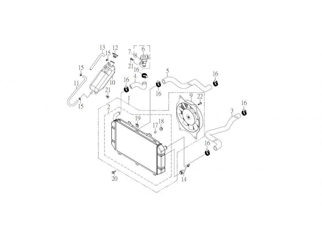 SMC 720R - rozkres - WATER-COOLING SYSTEM