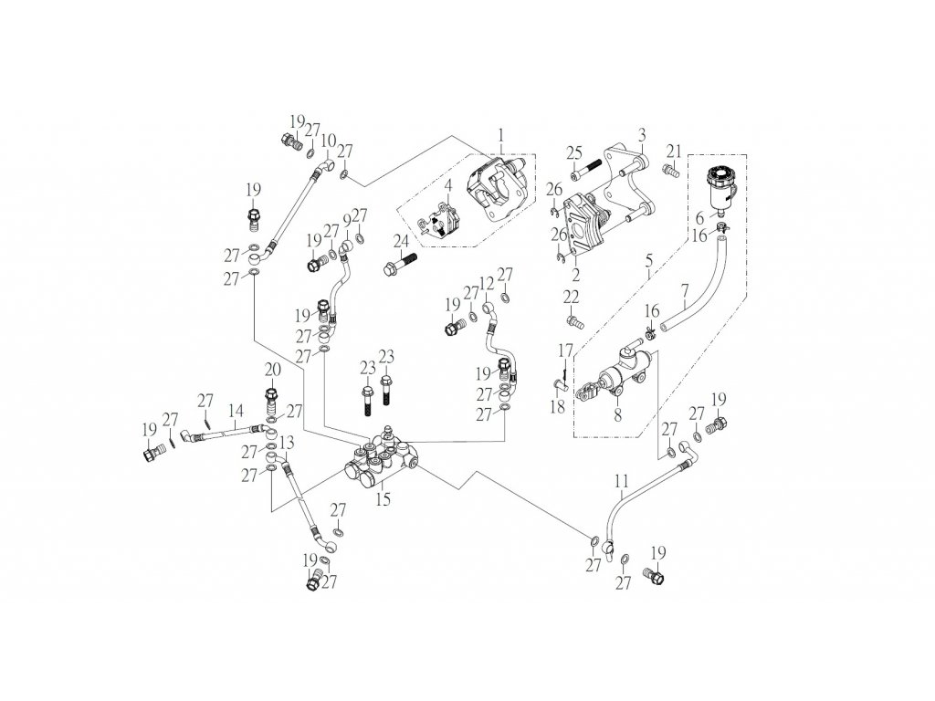 SMC 720R - rozkres - BRAKE SYSTEM