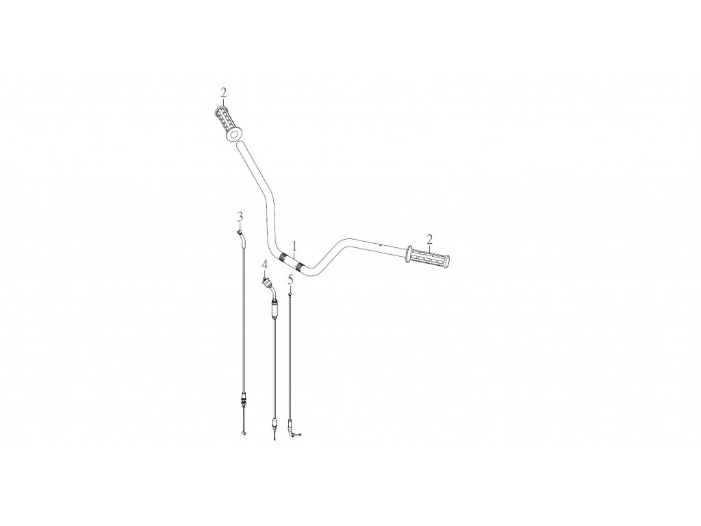 SMC 720R - rozkres - STEERING HANDLE CABLE