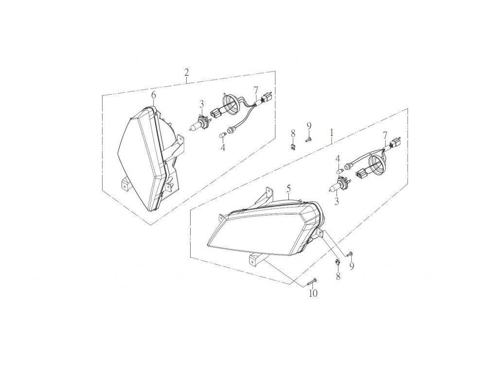 SMC 720R - rozkres - HEADLIGHT