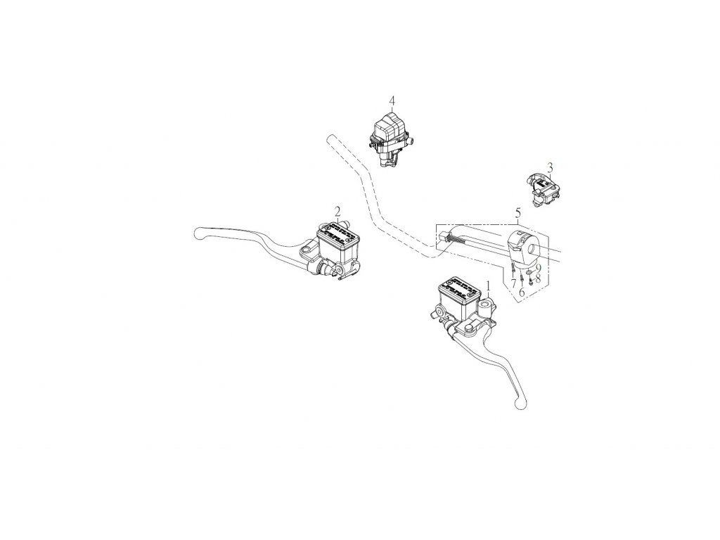 SMC 720R - rozkres - HANDLE SWITCH, LEVER