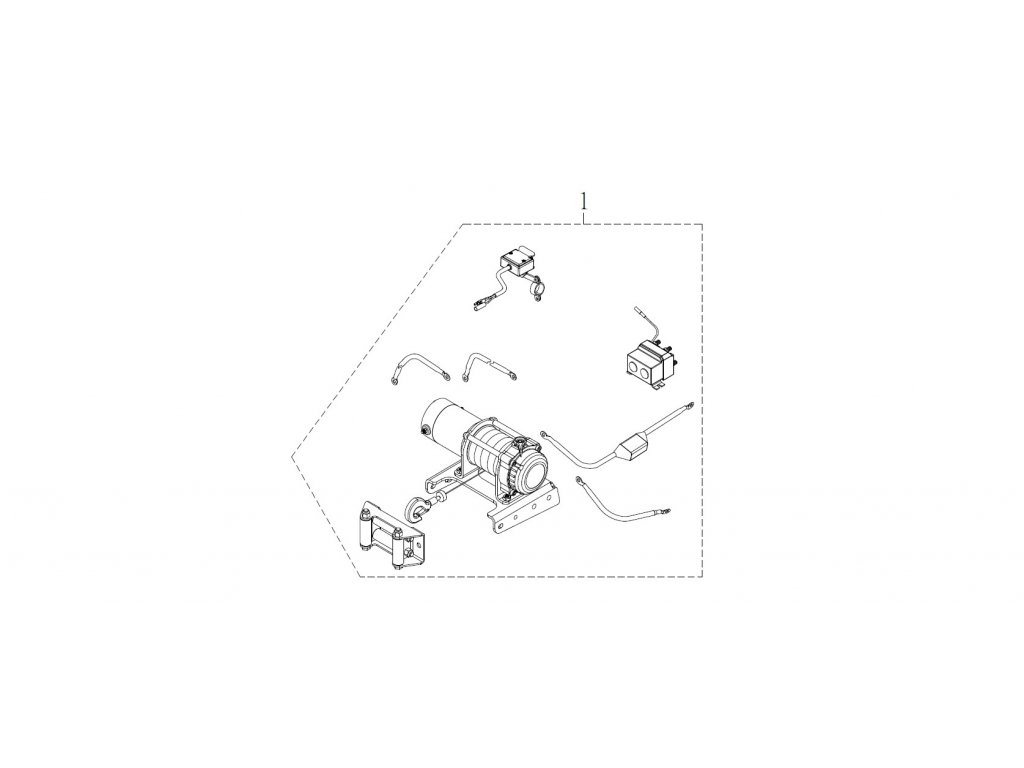 SMC 720R - rozkres - SNOW PLOW STAY INSTALLATION (Accessory)