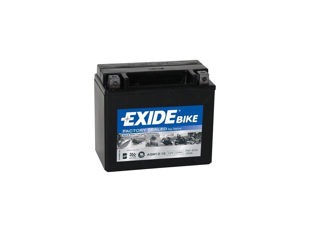 Motobaterie EXIDE 12V 10Ah 150A AGM12-10