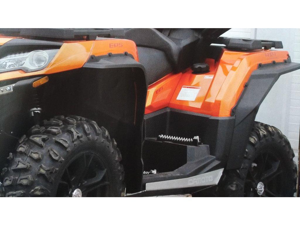 Rozšiřovací lemy CF MOTO X850/X1000 černé