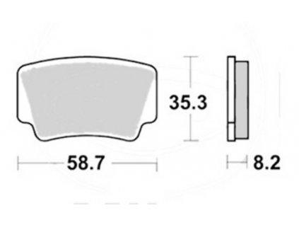 destičky TRW MCB825SI KTM zadní